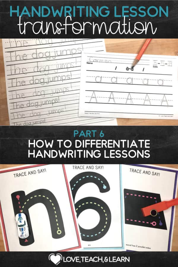 differentiate handwriting : HANDWRITING LESSON TRANSFORMATION